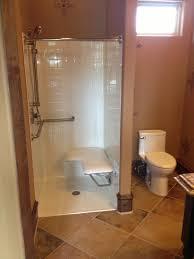 handicap accessible shower bathroom contemporary with wheelchair