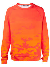 orange sweater lyst eary camouflage sweater in orange for