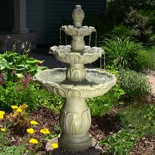 tiered water fountains outdoor 3 tier fountains greener