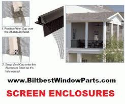 Vinyl Patio Enclosure Kits Screening Screen And Mesh Biltbest Window Parts