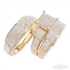 Trio Wedding Ring Sets by Diamond Trio Wedding Ring Set Diamond Engagement Rings Black