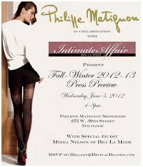 Showroom Opening Invitation Card Matter Shapewear Bra La Mode