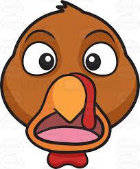 a stunned and horrified turkey cartoon clipart vector toons