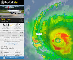a delta flight beat hurricane irma out of san juan airport and it