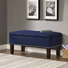 Nailhead Storage Ottoman Nailhead Storage Ottoman Oversized Coffee Table Blue Tufted