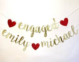congratulations engagement banner engagement banner etsy