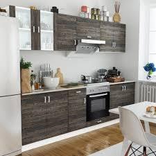 cuisine et d駱endance complet cuisine complète avec four intégré et plaque de cuisson aspect wenge