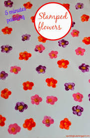 stamped flowers painting sparklingbuds