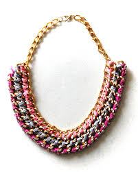 chain necklace diy images Diy woven chain collar necklace recess