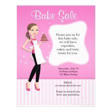 beautiful bake sale flyer personalized zazzle com