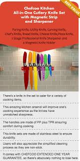 chefcoo most colorful and the best kitchen knife set reviews 2017