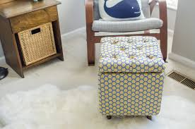 Build Storage Ottoman by How To Make An Ottoman Diy Faux Fur Tutorial Slipcover Coffee