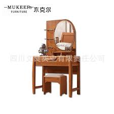 wood dresser dressing table rubber wood modern chinese bedroom