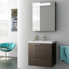 modern 23 inch bathroom vanity set with medicine cabinet wenge