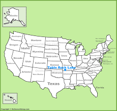 how big is table rock lake table rock lake location on the u s map