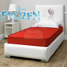 Frozen Beds Disney Frozen White Leather Bed With Organic Cotton Spring