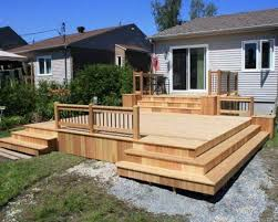 Solid Wood Small Backyard Deck Designs Great Small Backyard Deck - Backyard decking designs