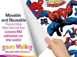 spiderman wall stickers totally movable and reusable spiderman wall stickers ad jpg