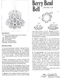 beaded bell ornament pattern search