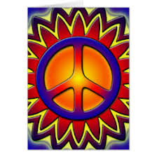 peace sign sun cards greeting photo cards zazzle