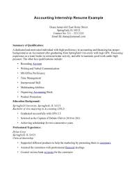 Extra Curricular Activities In Resume Sample by Senior Accounting Internship Resume Template And Education