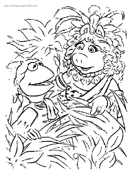 muppet show color coloring pages kids cartoon