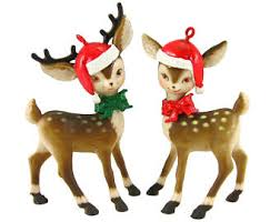 Reindeer Decoration For Christmas by 1970s Christmas Etsy