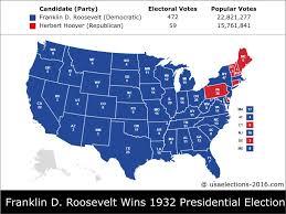 1972 Election Map by 1932 Presidential Election Result Franklin D Roosevelt