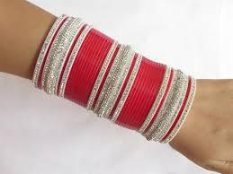 punjabi wedding chura bridal wedding chura bangles set rhinestones by beauteshoppe