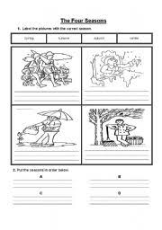 Four Worksheet The Four Seasons Worksheet By Jewell