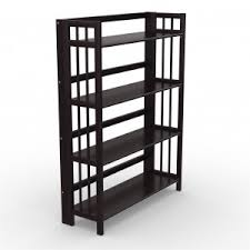 Iron Folding Bookcase Folding Bookcase U2013 Espresso 32 U201d Stony Edge