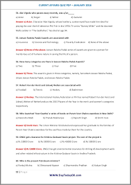 current affairs quiz pdf january 2016 by daytodaygk com