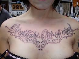 script chest tattooz chest
