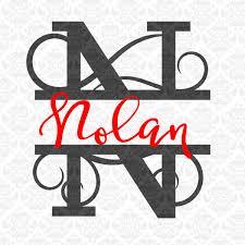 last name monogram split letter svg split monogram svg split letter monogram svg
