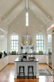 hanging lights for high ceilings and narrow living room with