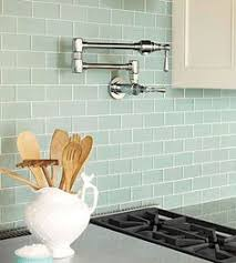 glass tile backsplash pictures for kitchen mini subway tile in seaglass tones great for a backsplash or