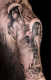 realism angel tattoo by niki norberg look into more at the