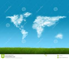 World Cloud Map by World Map Shaped Clouds Stock Photo Image 27450250