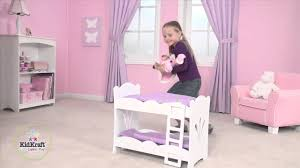 kidkraft lil doll bunk bed 60130 youtube