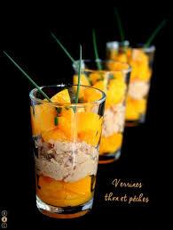 cuisine verrine recette de verrines au thon et à la pêche la recette facile