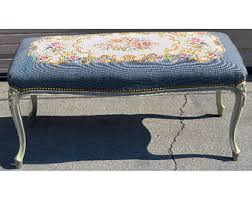 French Style Ottoman by Tapestry Ottoman Etsy