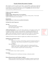 sample resume for adjunct professor position lovely resume sample