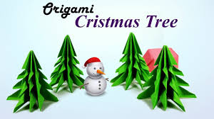 how to make a christmas tree xmas tree 3d paper origami