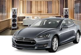 tesla outside premium audio for tesla model s by light harmonic