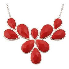 fashion jewelry red necklace images Red jewelry jpg