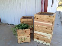 ana white tall cedar planters diy projects