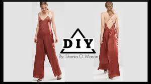 diy how to make a silky satin jumpsuit shania diy youtube