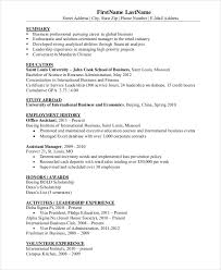 Business Resumes Samples by Best Business Resume 30 Free Word Pdf Document Download Free
