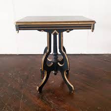 black and gold side table art deco black gold side table something old dayton