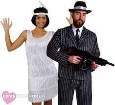 Flapper Gangster Couple Halloween Costumes Couples Gangster Flapper Costumes 1920 U0027s Fancy Dress